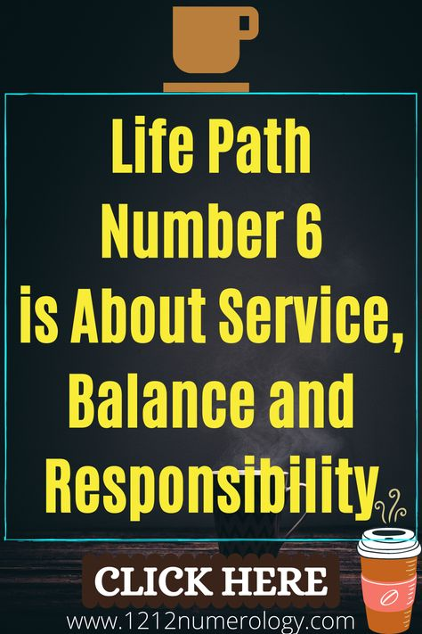 People with life path 6 need to learn how to love themselves, not only to give but also to receive. Professionally, people with life path number 6 are good in business related to servicing others (home business could also be an option for them). Numerology #6 can attract money, but often money comes not for their own needs but for the needs to serve others. People with life path 6 first need to make sure that everyone else is ok and only then they begin to think about themselves.