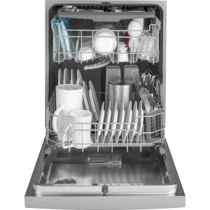 Ge 24 In Stainless Steel Front Control Built In Tall Tub Dishwasher 120 Volt With 3rd Rack Steam Cleaning And 50 Dba Gdf640hsmss The Home Depot Built In Dishwasher Steel Tub Top Control Dishwasher