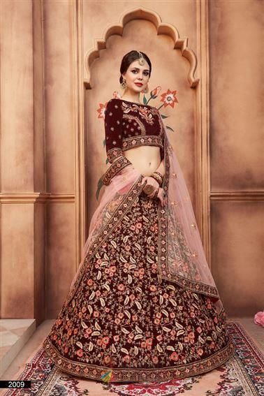 Maroon Velvet Resham Thread Work Bridal Wear Lehenga Choli For Uk Wedding Shopping Designer Bridal Lehenga Choli Bridal Lehenga Choli Sabyasachi Bridal