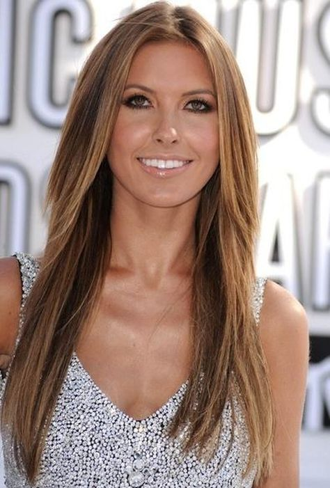 Gorgeous Celebrity Hairstyle Long Silky Straight Layered 100% Human Hair Lace Wig 22 Inches