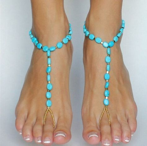 Anklet Jewelry Summer Anklet - Gorgeous Beads Embellished Turquoise Anklet ONE PIECE Are you ready for summer? Color: Turquoise Length Weight LB Package Contents 1 x Anklet