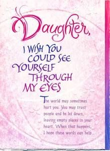 Daughter the beauty of words pinterest mother child quotes birthday wishes to my daughter daughter birthday greeting card daughter i wish you could bookmarktalkfo Choice Image