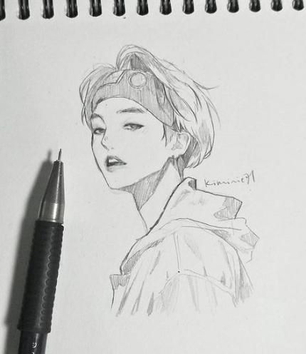 Super Drawing Sketches Love Art 53 Ideas Drawing Bts Drawings