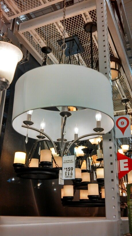 Drum Shade Chandelier Lowes  Shopping  Pinterest  Drum Shade Entrancing Lowes Dining Room Light Fixtures Inspiration