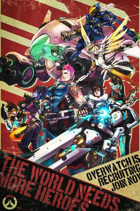 OVERWATCH Reaper POSTER Blizzard Gamer Video Game Poster 24x36