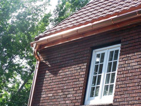Look At These Seamless Copper Half Round Gutters Rain Gutter Specialties Installed In Utah Rain Gutters Gutters Landscape Decor
