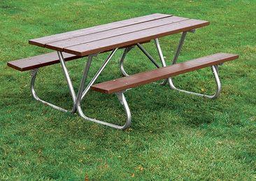 Traditional Heavy Duty Bolt-Thru Picnic Table