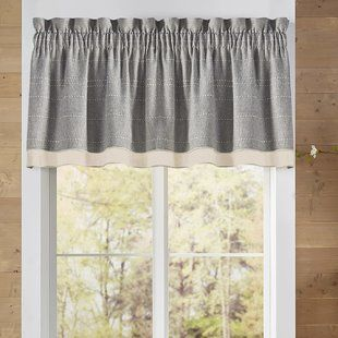 Longshore Tides Vannessa Traditional Elegance Double Layered Pick Up 58 Window Valance Wayfair In 2020 Farmhouse Window Treatments Valance Window Treatments Farmhouse Kitchen Curtains