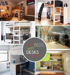 Teen Loft Bed With Desk With Thick Duvet Design Breck S Room