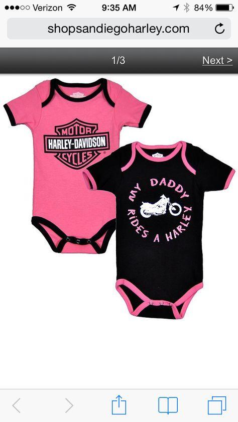 My Daddy Rides A Harley Onesie Classic Harley Davidson Harley Davidson Harley Davidson Bikes