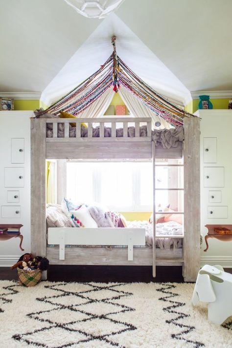 Kreatives Kinderzimmer Diy Ideen Fur Zelt Bett Etagenbett