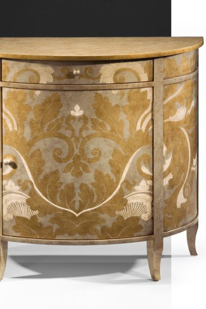 Hand Painted Demilune Cabinet Painting Wooden Furniture Painting Cabinets Colorful Furniture