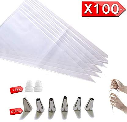Amazon Com Cupcake Cake Decorating Bags Pastry Bag Piping Bag Disposable Cake Icing Decorating Piping Bags Set For Cak Cupcake Cakes Pastry Bag Royal Frosting