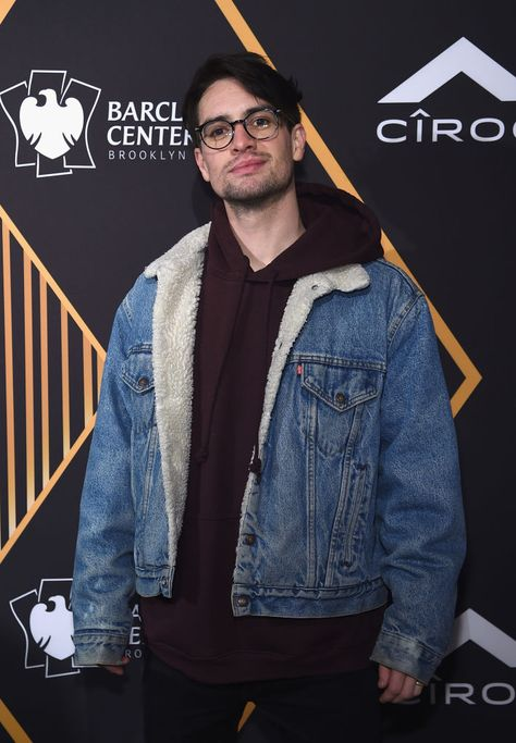 NEW YORK, NY - JANUARY 26:  Singer Brendon Urie of Panic! at the Disco attends Republic Records Celebrates the GRAMMY Awards in Partnership with Cadillac, Ciroc and Barclays Center at Cadillac House on January 26, 2018 in New York City.  (Photo by Jamie McCarthy/Getty Images for Republic Records)