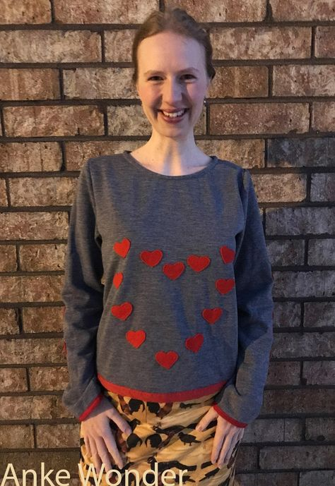 Women's Shirt Be my Valentine - L