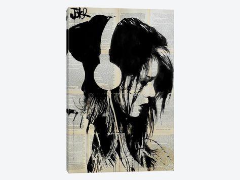 Melodies Solace by Loui Jover 1-piece Canvas Art Print