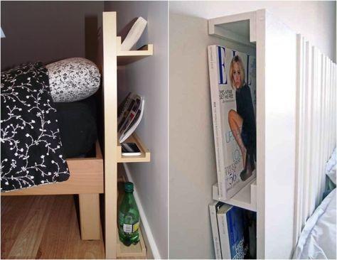 Bilderleisten Als Versteckter Stauraum Hinter Bett Kopfteil Kopfteil Bett Versteckter Stauraum Bett Mit Stauraum