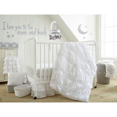 Levtex Baby Willow 5 Piece Crib Bedding Set In White Crib