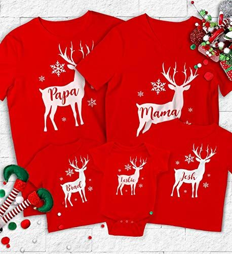 tshirts stag Matching family Christmas at the ......