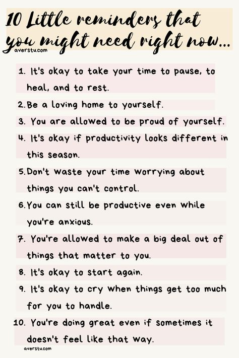10 Little reminders