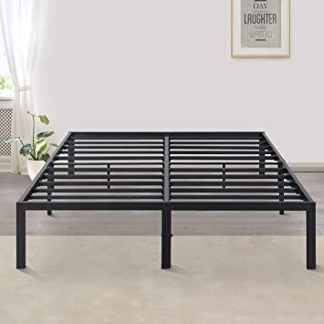 Primasleep Easy To Install 14 Inch Metal Platform Bed Frame King Black In 2020 Metal Platform Bed Bed Frame Platform Bed Frame