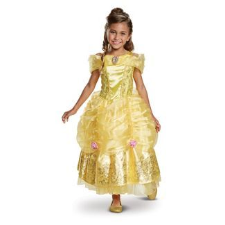 Toddler Girls Disney Princess Belle Deluxe Halloween Costume 3t