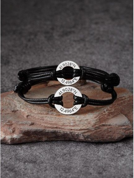 best friend long distance bracelets name bracelet long distance relationship Personalized coordinate bracelet couples infinity bracelets