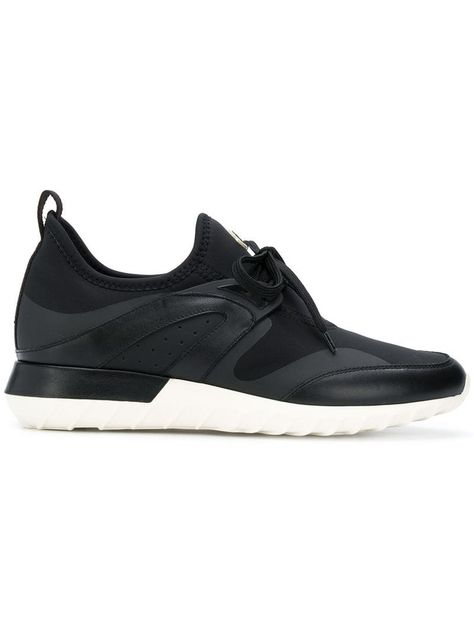 Philippe Model Tropez suede and leather sneakers