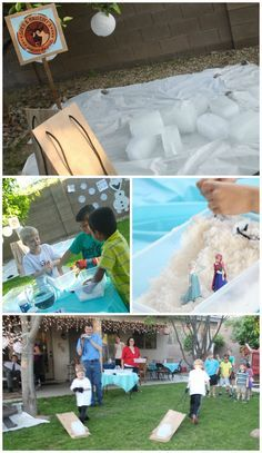 Frozen Party Games and Activities Disney frozen party Snow cones