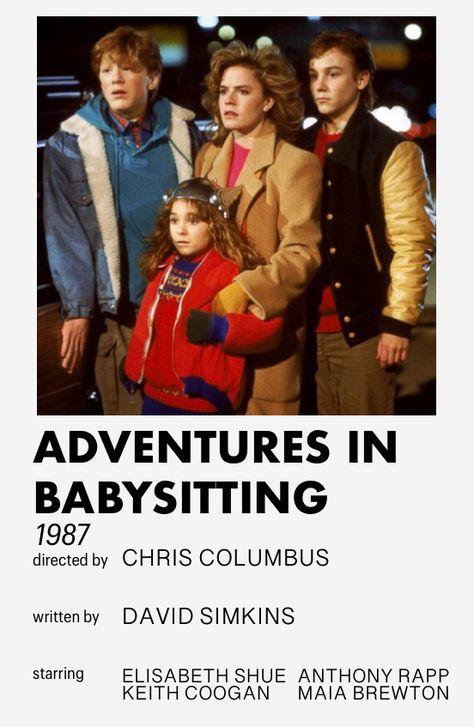 adventures in babysitting minimalistic movie poster