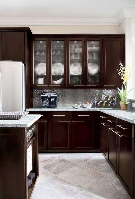 cocina integral color wengue moderna - Buscar con Google | Cocina ...