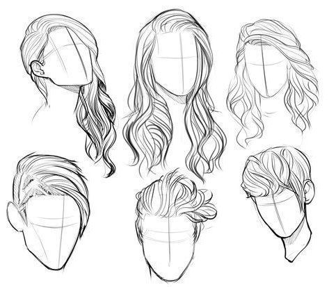 Hairstyles Sketches Zeichnen Hairstyles Sketches Zeichnen Face Drawing Drawing Facedrawingproportio Hair Sketch Face Drawing Portrait Sketches