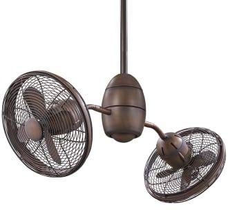View The Minkaaire Gyrette 8 Blade 36 Indoor Ceiling Fan With Adjustable Twin Turbofan Heads Ro Ceiling Fan Industrial Ceiling Fan Brushed Nickel Ceiling Fan