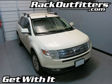 Ford Edge Thule Rapid Traverse Silver Aeroblade Base Roof Rack 07