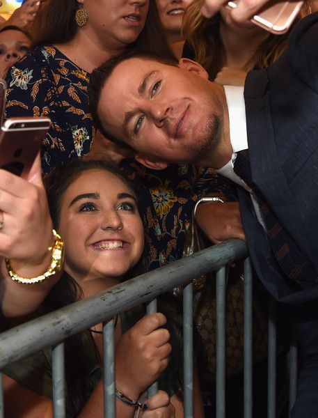 Channing Tatum meets with fans during a 'Logan Lucky' Tennessee Benefit Screening for Variety.