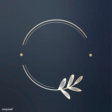 Download premium vector of Round floral design logo vector 679788