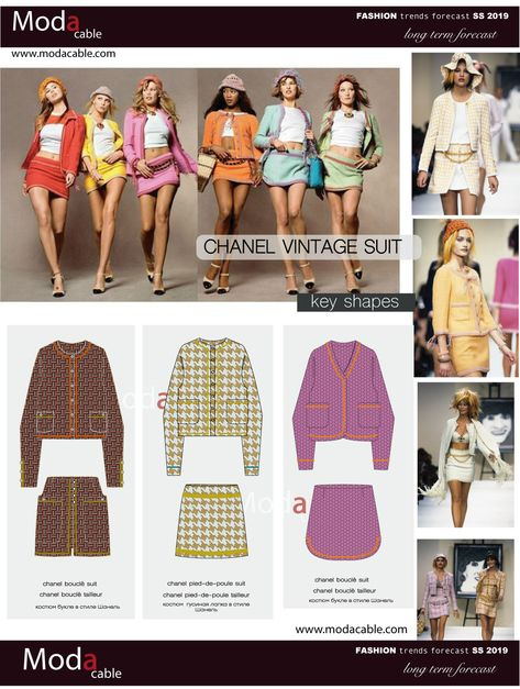 SS 2019 fashion trend Chanel Vintage Suit only at www.modacable.com