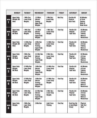 Weekly Workout Plan Free 7 Sample Weekly Workout Plan Templates In Ms Word Workout Plan Template Weekly Workout Plans Weekly Workout Schedule