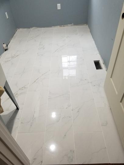 User Submitted Photo Porcelain Flooring Bathrooms Remodel Marble Bathroom Floor