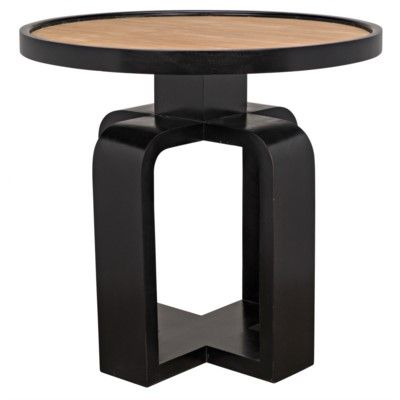 Tom Side Table Teak And Hand Rubbed Black