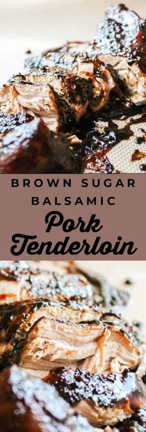 Brown Sugar Balsamic Pork Tenderloin (Crockpot) from The Food Charlatan