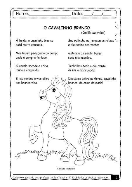 Texto Com Interpretacao Para Turmas De 3º Anos O Cavalinho Branco