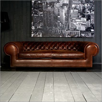 contempo andromeda chesterfield sofa, leather by paola navone