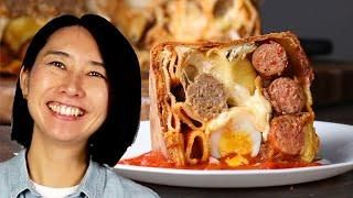 Rie Shows Us How To Make Timpano Timpano Recipe Food Tasty Pasta