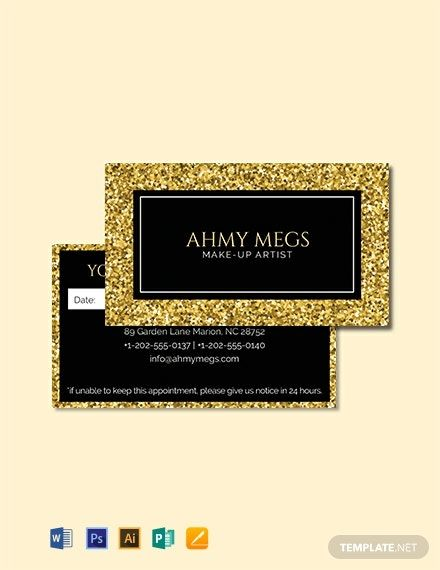 Free Makeup Artist Appointment Card Template Word Doc Psd Apple Mac Pages Illustrator Publisher Appointment Cards Card Template Word Doc