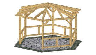 Bauanleitung Holz Pavillon Selber Bauen Holzpavillon Holz Pavillon Pavillon Selber Bauen