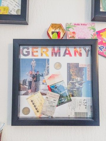 Diy Travel Shadow Box Ideas To Help Preserve Your Memories Red Around The World Travel Shadow Boxes Diy Shadow Box Travel Diy