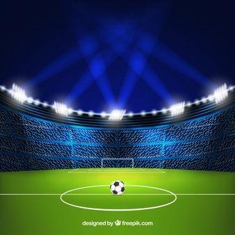 Fondo De Estadio De Futbol En Estilo Realista Estadio De Futbol Cancha De Futbol Dibujo Cancha De Futbol