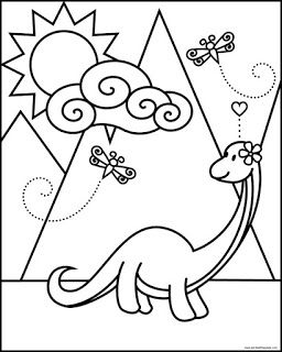 Brontosaurus Coloring Page My Coloring Pages Dibujos Para