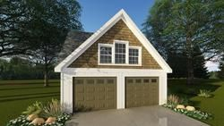 The 24 X 26 X 9 Two Car Garage With Dormer Features Two 9 X 7 Overhead Garage Doors With Openers Three Win Garage Door Types Garage Decor Craftsman Style